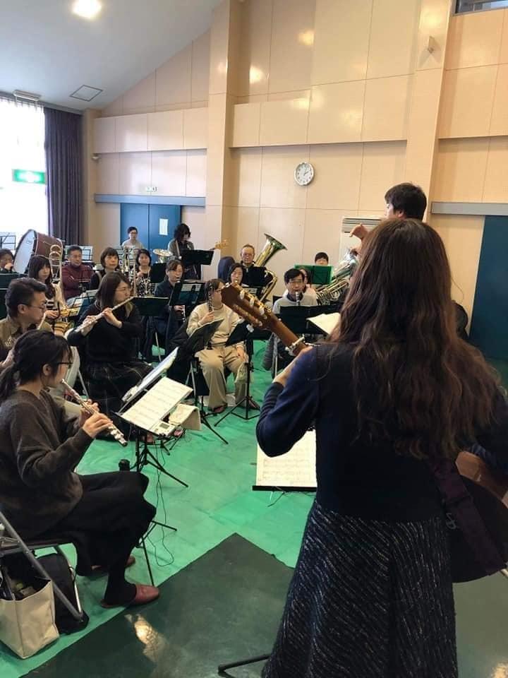亀山市吹奏楽団さんとのリハーサルでした。_f0373339_12553314.jpg