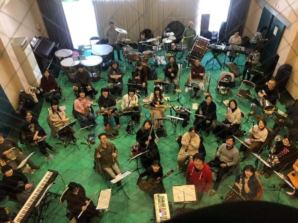 亀山市吹奏楽団さんとのリハーサルでした。_f0373339_12553467.jpg