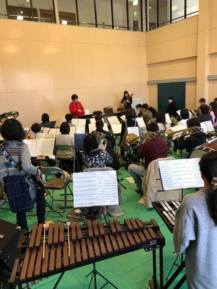 亀山市吹奏楽団さんとのリハーサルでした。_f0373339_13242103.jpg
