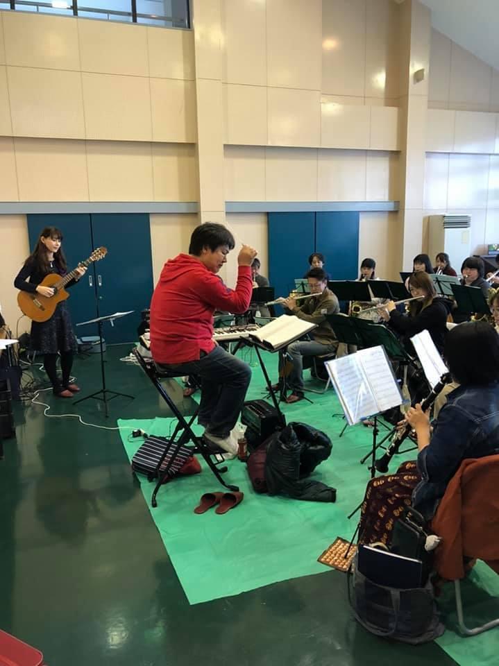 亀山市吹奏楽団さんとのリハーサルでした。_f0373339_13242274.jpg