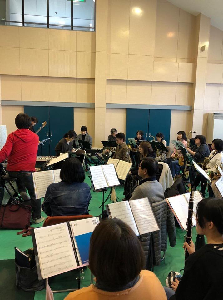 亀山市吹奏楽団さんとのリハーサルでした。_f0373339_13423502.jpg
