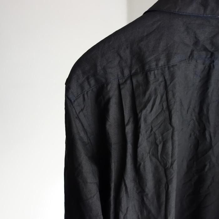 5月の製作 / DA indigolinen easy shirt by dealer made [別注品]_e0130546_18020081.jpg