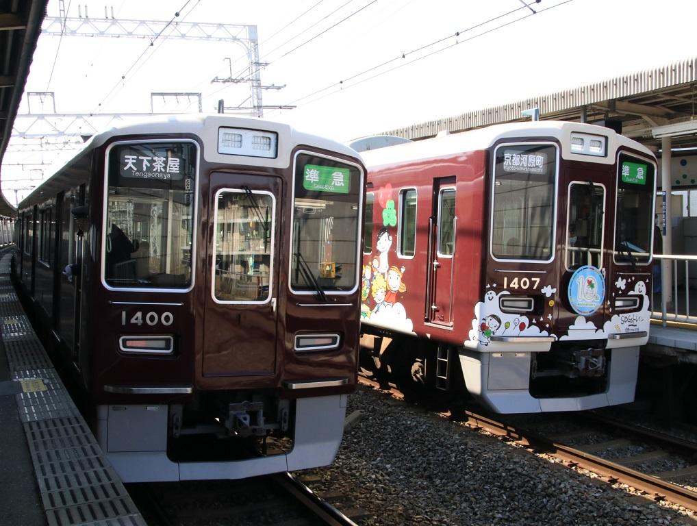 阪急1300系同士 準急 大山崎付近_d0202264_8172026.jpg