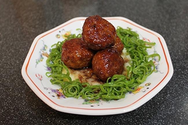 黒酢の肉団子とよだれ豆腐_a0223786_14222191.jpg