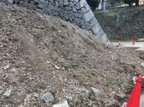 名古屋城本丸搦手馬出周辺石垣現地説明会に約10名_d0011701_13305857.jpg
