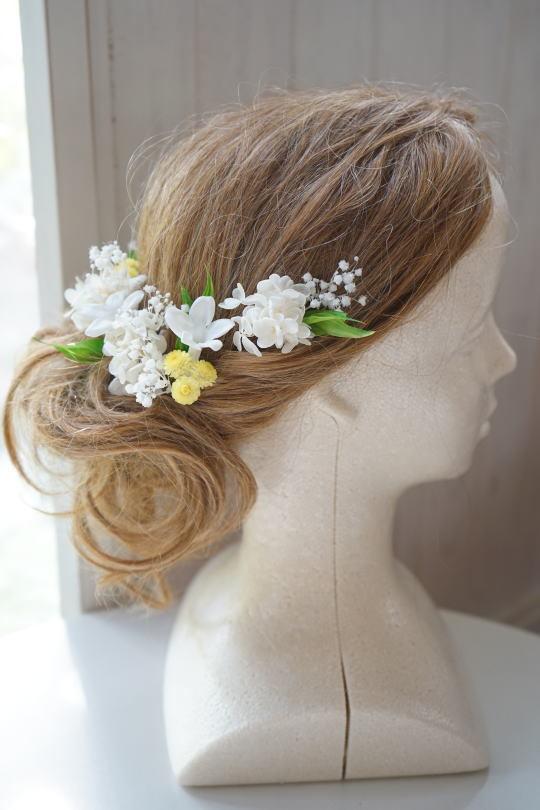 白バラとスズランのブーケ_a0136507_20123527.jpg