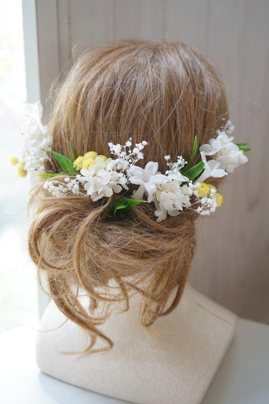 白バラとスズランのブーケ_a0136507_20125307.jpg
