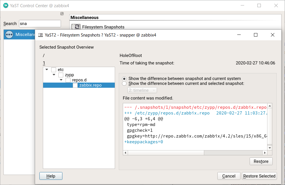 SUSE Linux 15 BtrFS のファイルシステム自動修復、チェック、スナップショット_a0056607_13480760.png