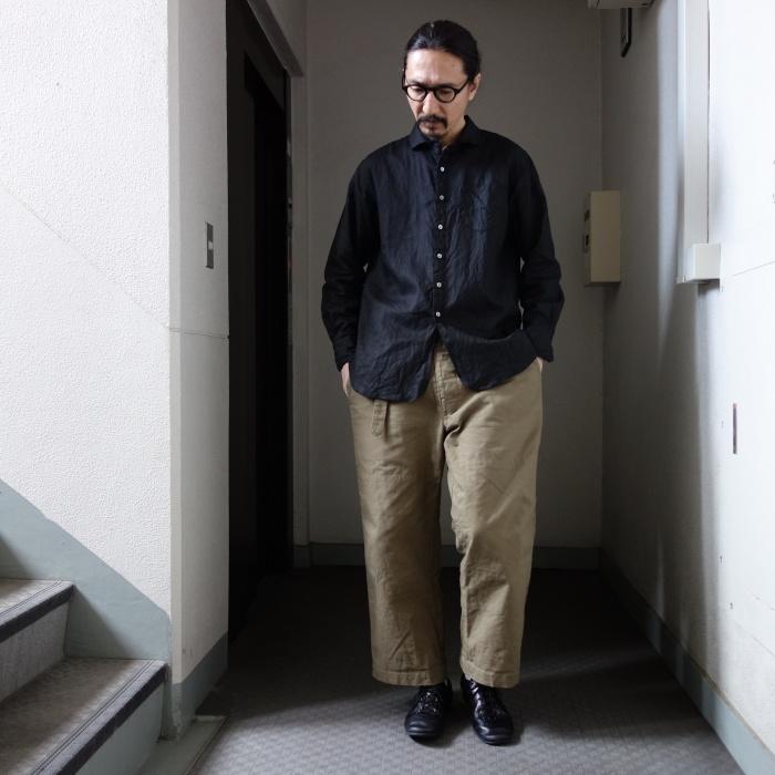 5月の製作 / DA indigolinen easy shirt by dealer made [別注品]_e0130546_13205685.jpg