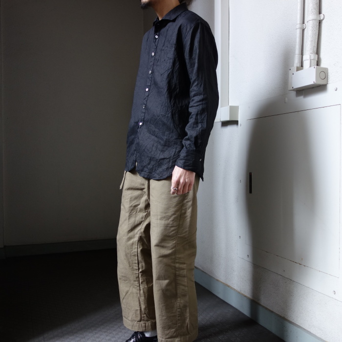 5月の製作 / DA indigolinen easy shirt by dealer made [別注品]_e0130546_13213518.jpg