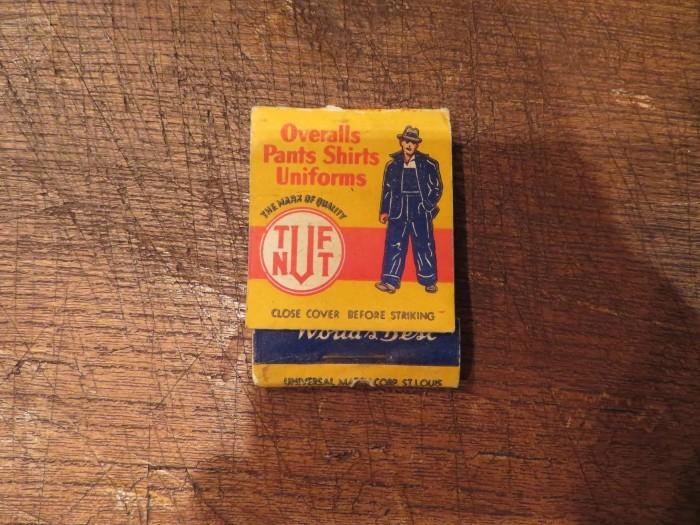 Vintage TUF NUT Advertising  Matchbook Cover_e0187362_11244983.jpg