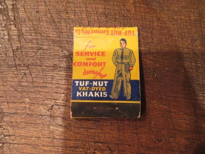 Vintage TUF NUT Advertising  Matchbook Cover_e0187362_11250562.jpg