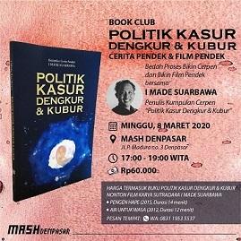 """新刊:\""""Politik Kasur Dengkur dan Kubur\"""" 短編集 インドネシア語_a0054926_09484623.jpg"""