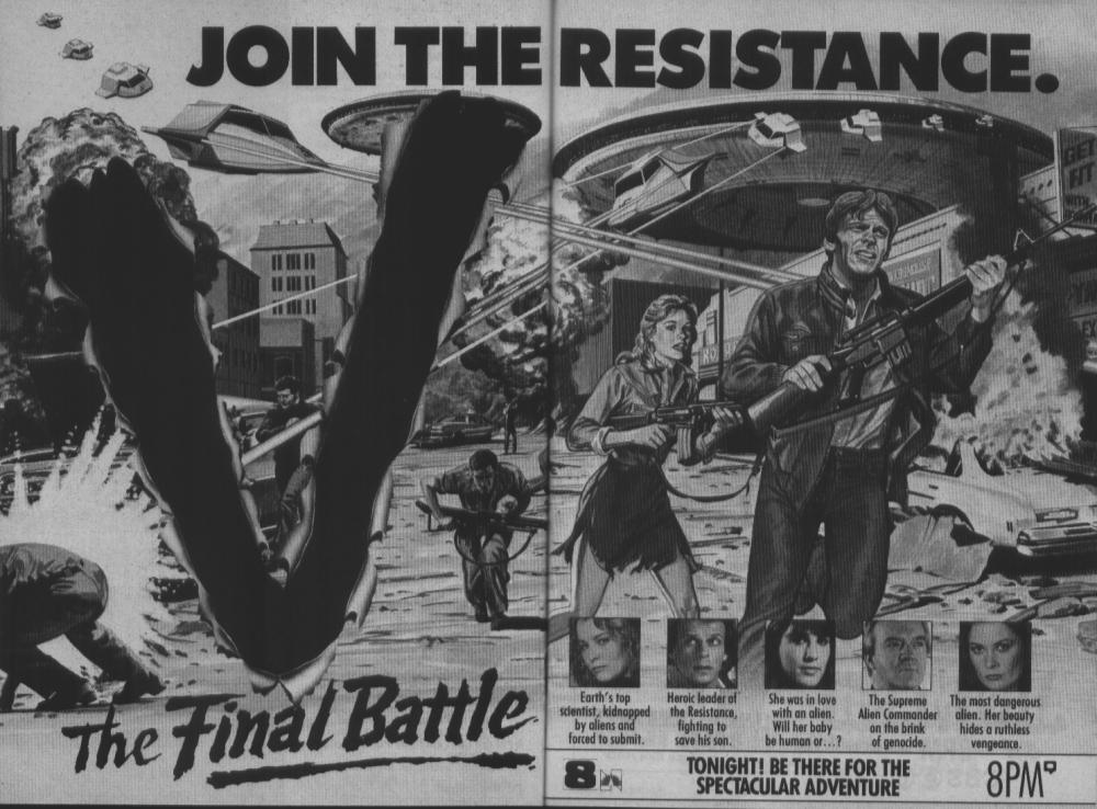 V (1983) & V: THE FINAL BATTLE (1984)_c0047930_03030798.jpg