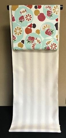 石下結城紬のフルーツ帯を着物・小物とコーディネイト。_f0181251_18583302.jpg