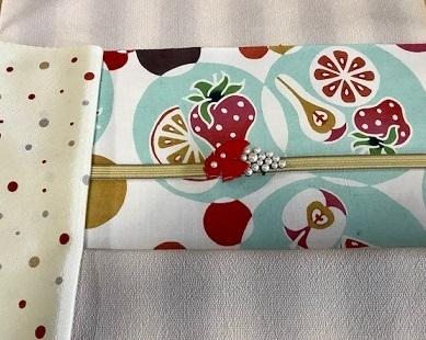 石下結城紬のフルーツ帯を着物・小物とコーディネイト。_f0181251_19010577.jpg