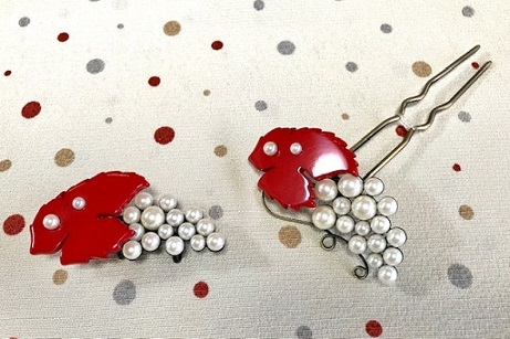 石下結城紬のフルーツ帯を着物・小物とコーディネイト。_f0181251_19014790.jpg