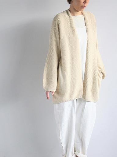 unfil mulberry & raw silk knit cardigan _b0139281_17365874.jpg