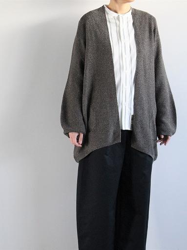unfil mulberry & raw silk knit cardigan _b0139281_17371429.jpg