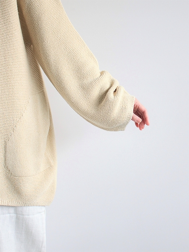 unfil mulberry & raw silk knit cardigan _b0139281_17373647.jpg