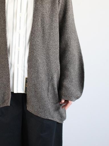 unfil mulberry & raw silk knit cardigan _b0139281_17375275.jpg