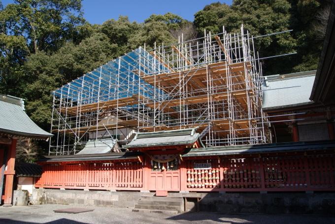 東宝殿 解体終了  本殿 足場組立  R2.2.28_f0191383_13163580.jpg