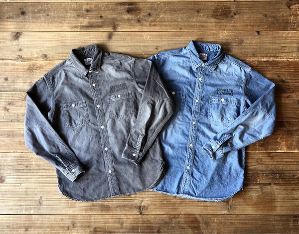 【DELIVERY】 STANDARD CALIFORNIA - Denim Work Shirt_a0076701_17102235.jpg