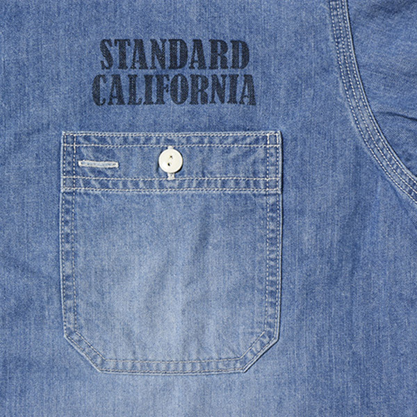 【DELIVERY】 STANDARD CALIFORNIA - Denim Work Shirt_a0076701_17123506.jpg