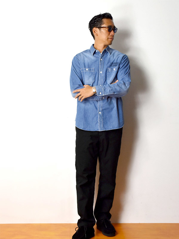 【DELIVERY】 STANDARD CALIFORNIA - Denim Work Shirt_a0076701_17131532.jpg