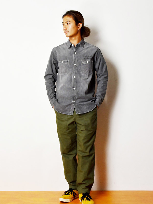 【DELIVERY】 STANDARD CALIFORNIA - Denim Work Shirt_a0076701_17132169.jpg