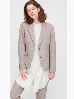 お買い物同行の下見 UNIQLO INESのコットンチェックジャケットは高見えするぞ!_f0249610_16282136.jpg
