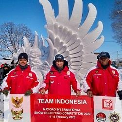 祝・インドネシアのガルーダ雪像 第3位@第47回なよろ国際雪像彫刻大会2020_a0054926_19351751.jpg
