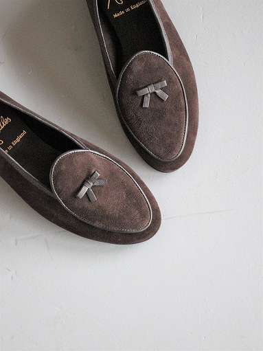 NEEDLES Suede Slip-On With Bow_b0139281_14113754.jpg