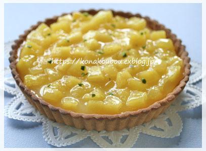 3月のお菓子・パインとチーズのタルト_a0392423_16002771.jpg