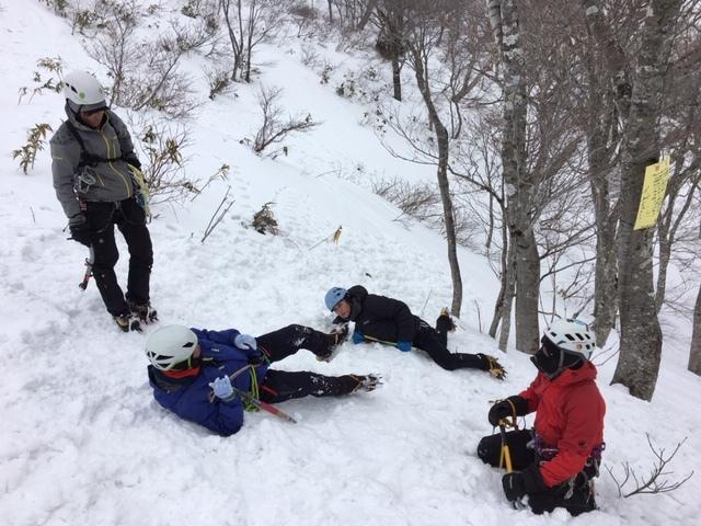 愛知山岳連盟 雪上技術検定_a0067744_18341609.jpg