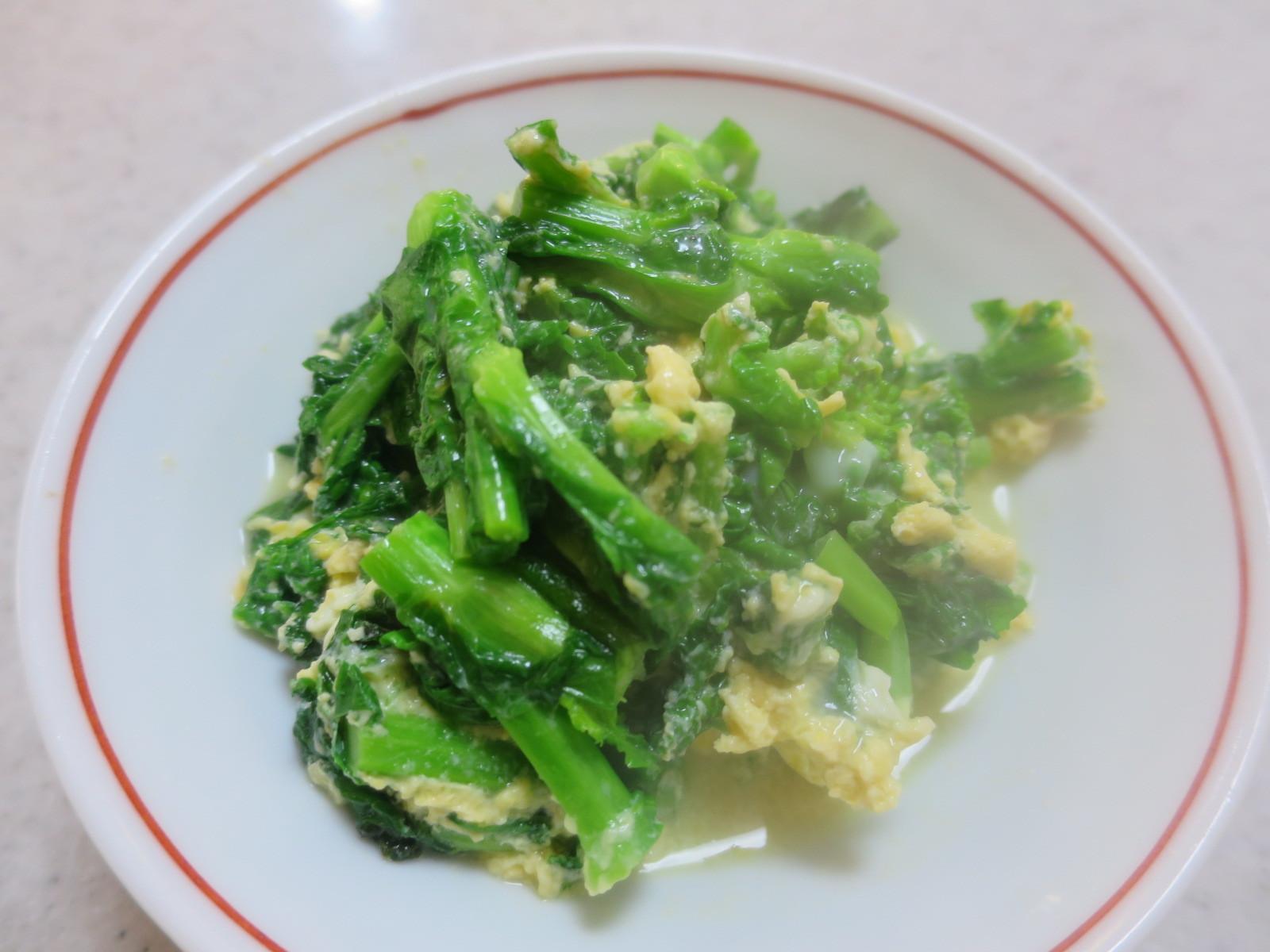 3/1よい天気 菜の花の卵炒め_d0031682_16395762.jpg