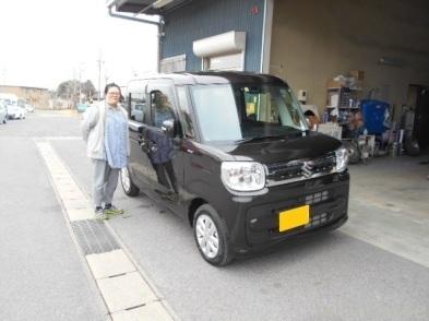 祝☆納車  MK53Sスペーシア お買い上げありがとうございます(*≧∇≦)/_c0213517_10312327.jpg