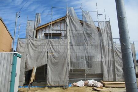 「駒場の家」外壁下地通気ラス張り_b0179213_18492101.jpg