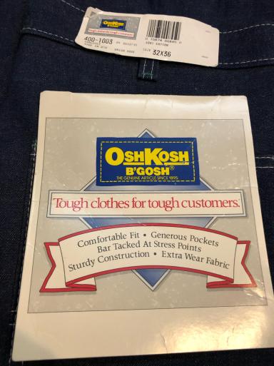 アメリカ仕入れ情報#24   デッドストック80s~OshKosh denim painter pants!_c0144020_09560761.jpg