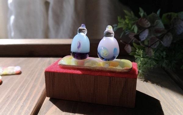 nikoiroさん作ガラスの雛人形_b0100229_15520700.jpg