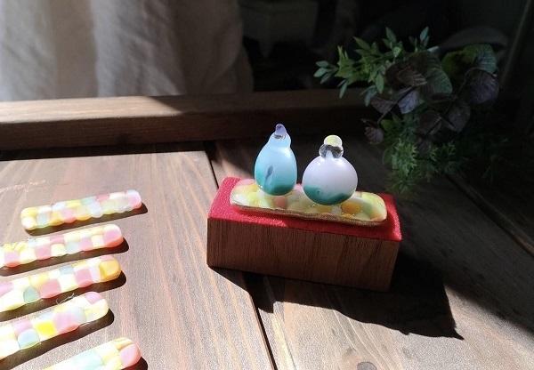 nikoiroさん作ガラスの雛人形_b0100229_15522982.jpg