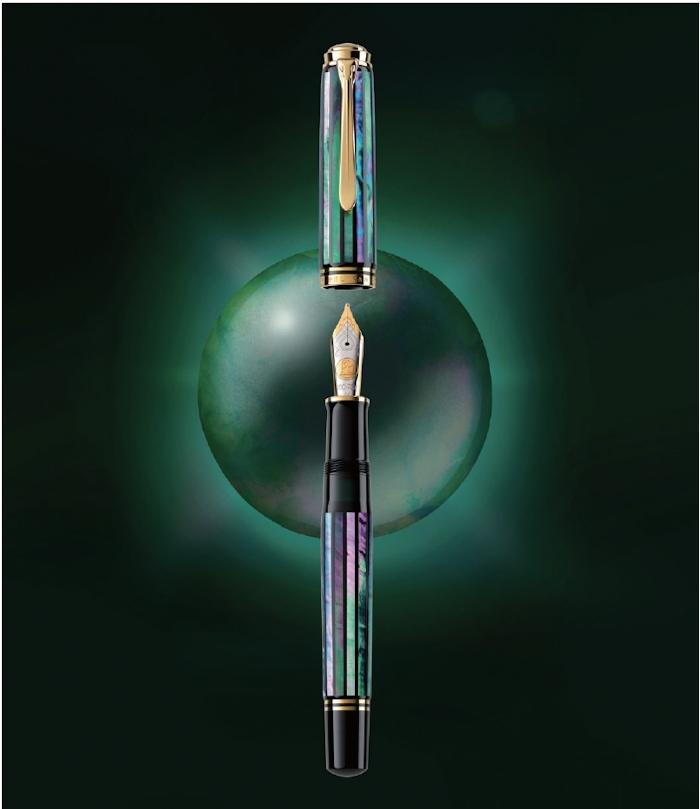 螺鈿限定万年筆 M1000「緑光」_e0200879_11425280.jpg