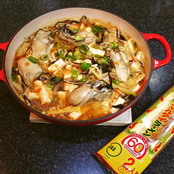 マルタイラーメンで牡蠣のサンラータンメン&ちゃんぽん_a0223786_11575540.jpg