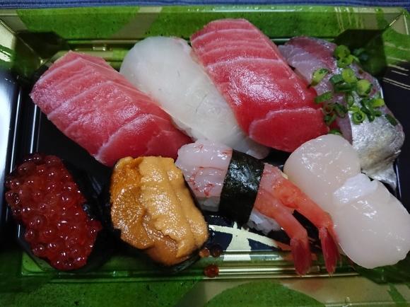 3/4 角上魚類日野店 にぎり寿司8貫¥1,080@自宅_b0042308_22235318.jpg