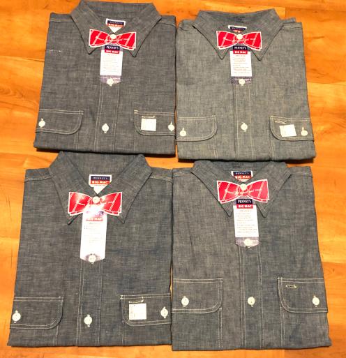 アメリカ仕入れ情報#26 デッドストック 50s Penny's BIGMAC ビッグマックシャンブレーシャツ!_c0144020_12555986.jpg