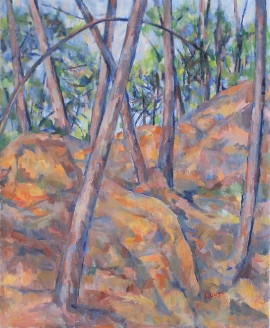 赤い森の岩と木_c0236929_17444667.jpg