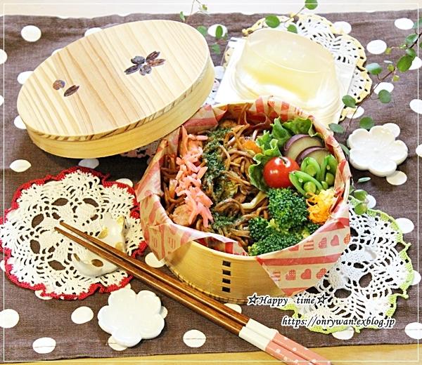 ご飯炊くの忘れてた日の焼きそば弁当とミニソフトバゲット♪_f0348032_16452654.jpg