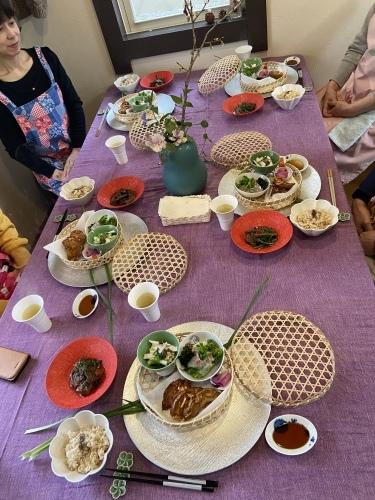 弥生の料理クラス   こんな時こそ   桜が満開  _b0346442_11392628.jpeg