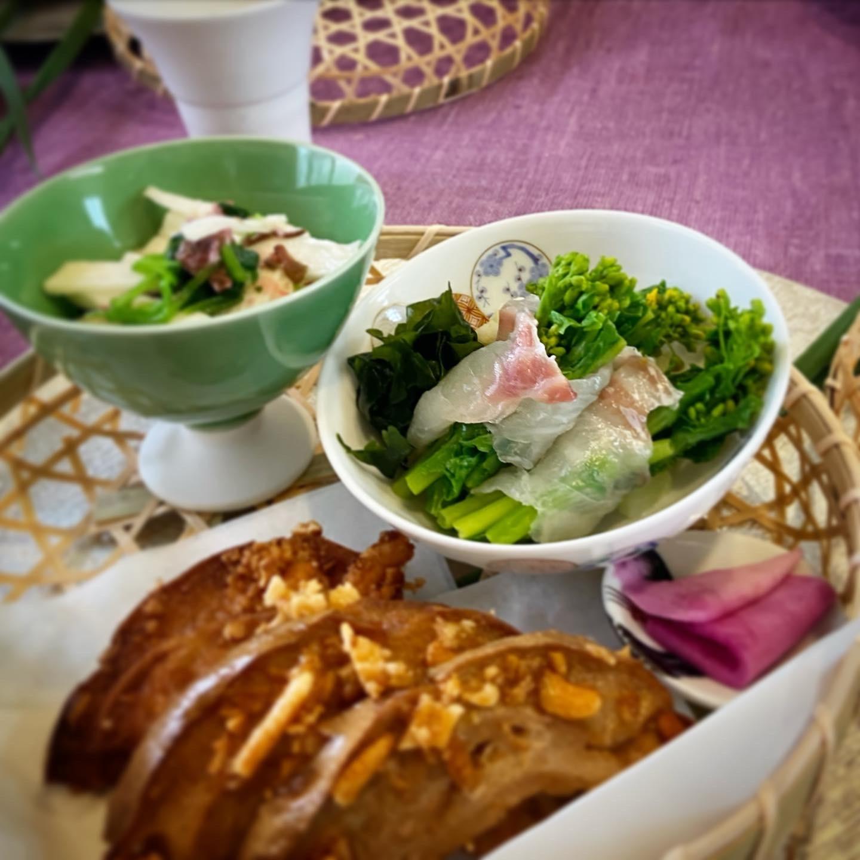 弥生の料理クラス   こんな時こそ   桜が満開  _b0346442_11400618.jpeg