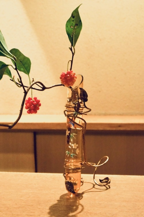 LEGRAS Japonesque Enamel Vase_c0108595_23322679.jpeg